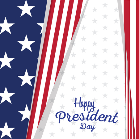 President day banner with text. Vector illustration design Ilustrace