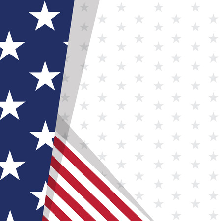 Colored background with the flag of United States. Vector illustration design Ilustração Vetorial