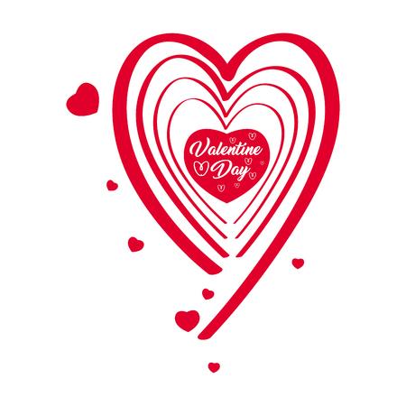 Isolated valentine day banner. Vector illustration design Illustration
