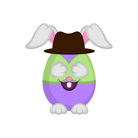 Cute easter bunny egg, Vector illustration design Vektorgrafik
