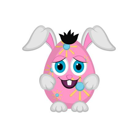 Cute easter bunny egg, Vector illustration design