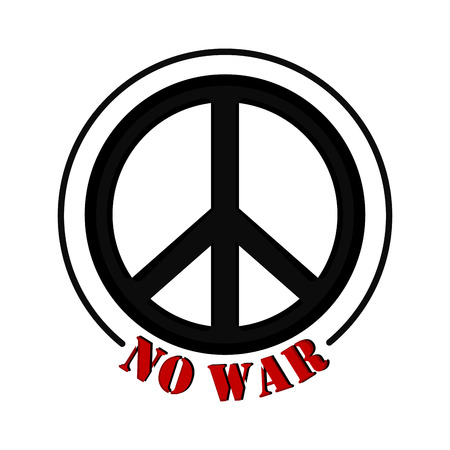 No war banner with a peace symbol. Vector illustration design