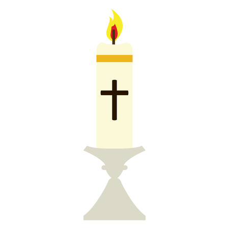 Isolated Paschal candle image. Holy week. Vector illustration design  イラスト・ベクター素材