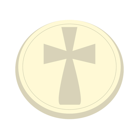 Isolated host icon. Holy week. Vector illustration design