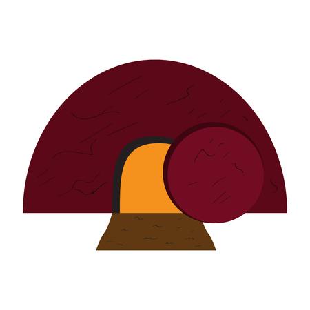 Isolated Jesus tomb icon. Vector illustration design Illustration