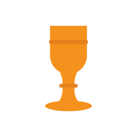 Isolated chalice icon. Holy week. Vector illustration design