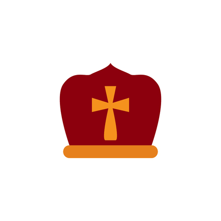 Isolated pope hat image. Vector illustration design