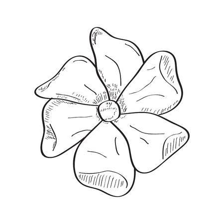 Isolated sketch of a flower. Vector illustration design Banco de Imagens - 125053174