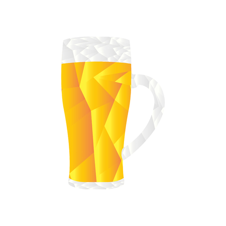 Isolated polygon beer mug. Vector illustration design Ilustrace