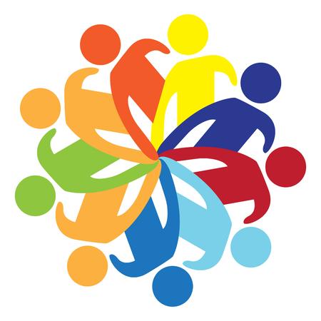 Obraz ikony na białym tle pracy zespołowej. Projekt ilustracji wektorowych