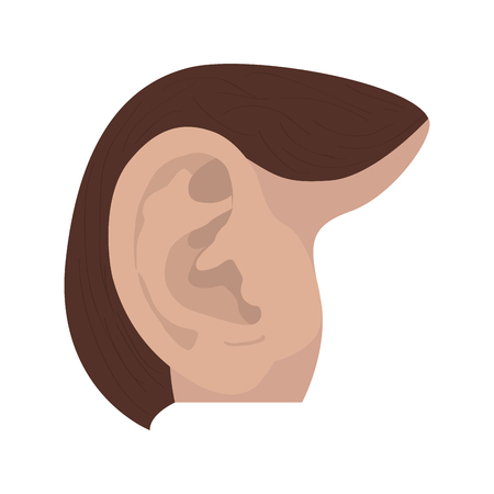 Isolated human ear image. Vector illustration design