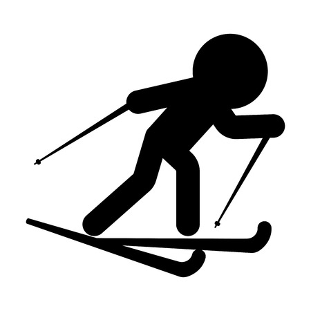 Isolated skiing person icon. Vector illustration design