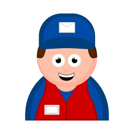 Isolated postman avatar cartoon. Vector illustration design Ilustração