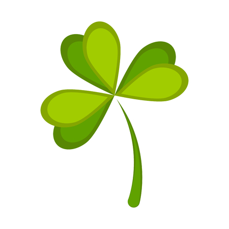 Isolated green clover icon. Patrick day. Vector illustration design