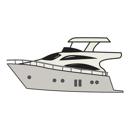 Isolated yatch cartoon image. Vector illustration design