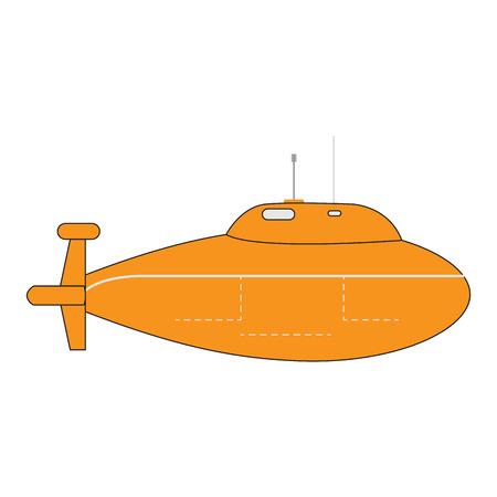 Isolated submarine cartoon image. Vector illustration design Illustration