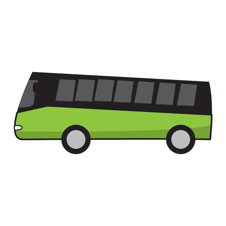 Isolated tourist bus cartoon image. Vector illustration design