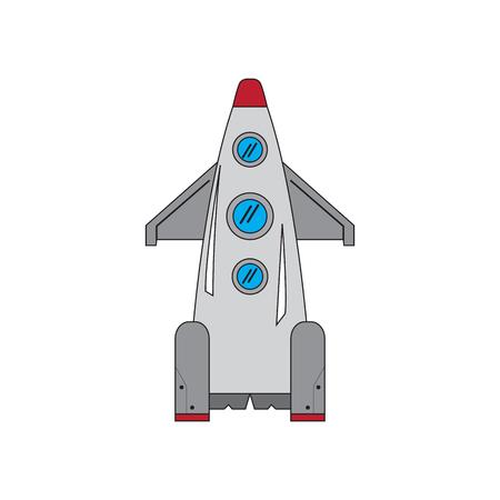 Isolated space shuttle cartoon image. Vector illustration design Ilustração