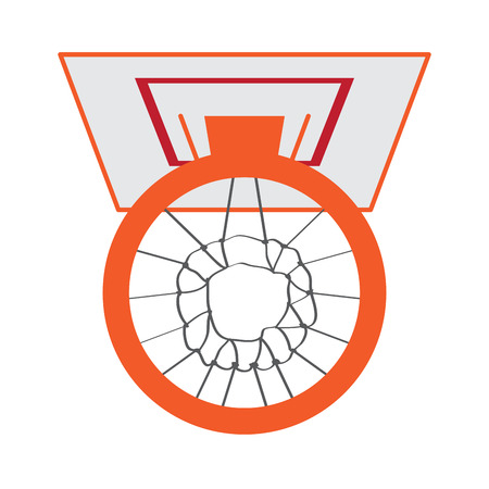 Isolated basketball hoop image. Vector illustration design