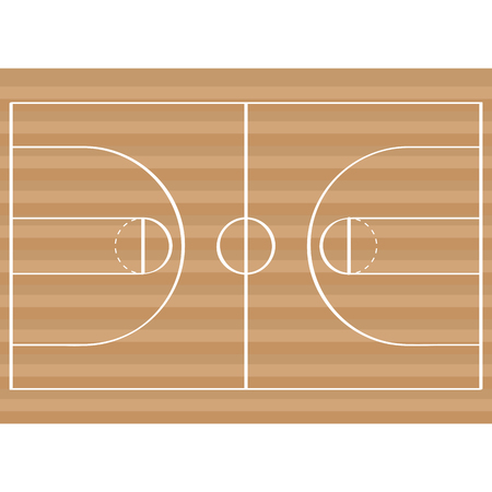 Isolated basketball field image. Vector illustration design Illustration