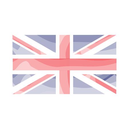 Watercolor flag of United Kingdom. Vector illustration design