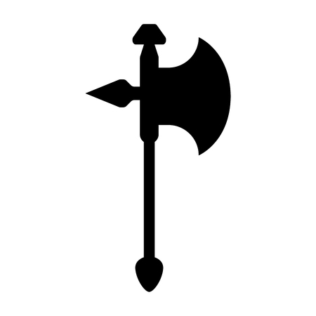 Isolated halberd icon image. Vector illustration design Ilustração