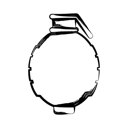 Isolated sketch of a hand grenade. Vector illustration design