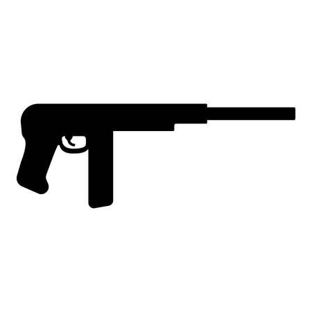 Isolated rifle icon image. Vector illustration design
