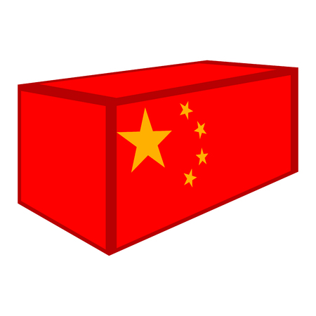 Container with flag of China. Vector illustration design