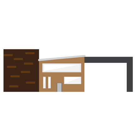 Isolated modern house building. Vector illustration design