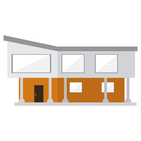 Isolated modern house building. Vector illustration design Banque d'images - 119326278