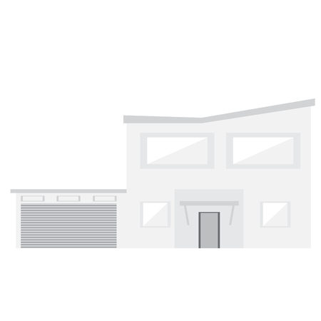 Isolated modern house building. Vector illustration design