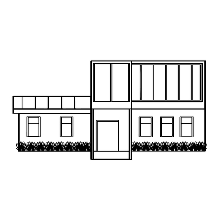 Aperçu d'un bâtiment de maison moderne. Conception d'illustration vectorielle Vecteurs