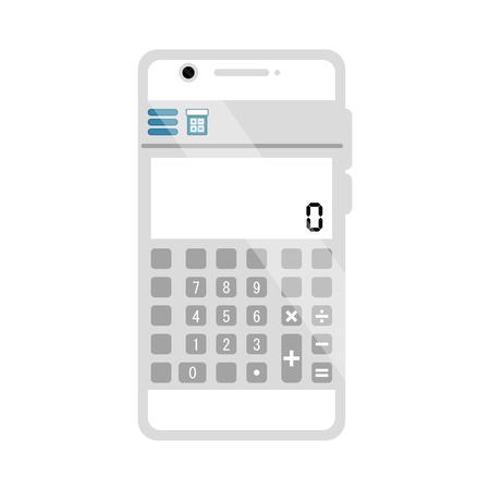Isolated calculator mobile app. Vector illustration design