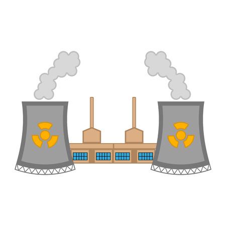 Nuclear power plant image. Vector illustration design Vecteurs