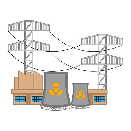 Nuclear power plant image. Vector illustration design