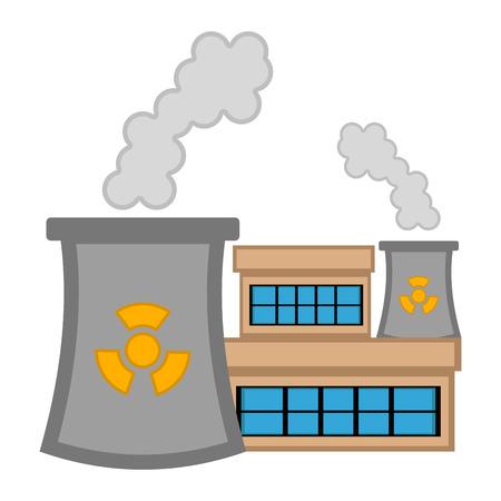 Image de la centrale nucléaire. Conception d'illustration vectorielle