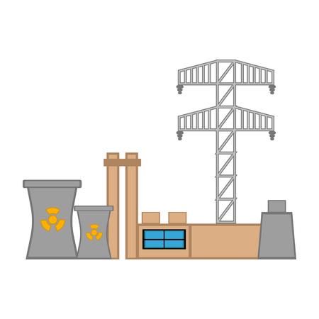 Nuclear power plant image. Vector illustration design Illustration