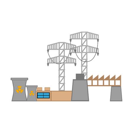Nuclear power plant image. Vector illustration design Ilustracja