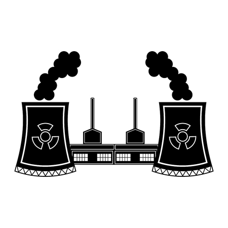 Nuclear power plant icon. Vector illustration design