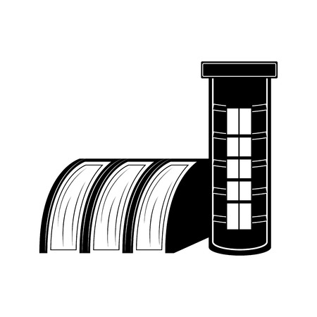 Hydroelectric power station icon. Vector illustration design