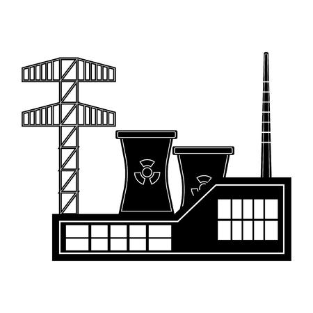 Icône de centrale nucléaire. Conception d'illustration vectorielle