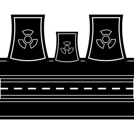 Nuclear power plant icon. Vector illustration design Vecteurs