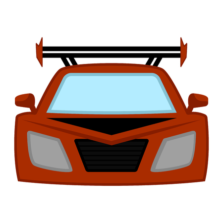 Isolated racing car image. Vector illustration design