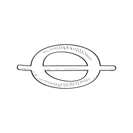 Bosquejo de nota entera cómica aislada. Diseño de ilustración vectorial