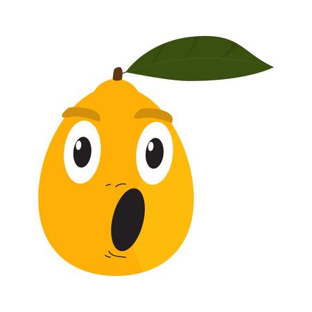 Surprised orange cartoon image. Vector illustration design Illustration