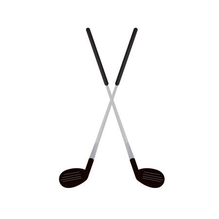 Isolated golf clubs image. Vector illustration design Ilustração