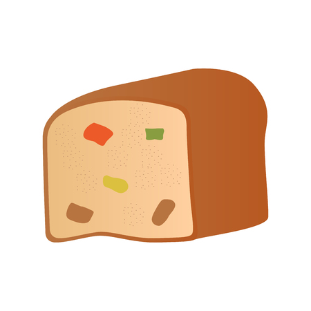 Bread with candied fruit. Vector illustration design 向量圖像