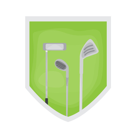 Isolated golf field image. Vector illustration design