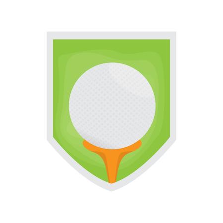 Isolated golf field image. Vector illustration design